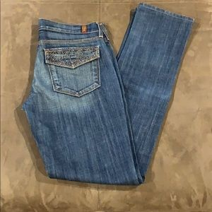 Women's 7FAM Jeans 27 Straight Slim